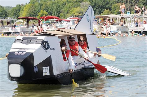 cardboard boat pics cardboard boats to set sail saturday in races at greers ferry
