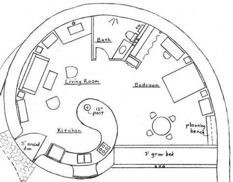 cob house floor plans lovely spiral earth bag house plan would be awesome as