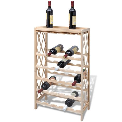 Wine Rack Storage by Vidaxl Co Uk Wood Wine Rack Wine Shelf Storage For 25