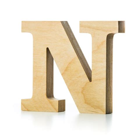 wooden letter crafted from quality birch plywood hand