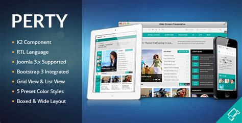 themeforest designed magazine newspaper blog perty responsive news magazine joomla template by