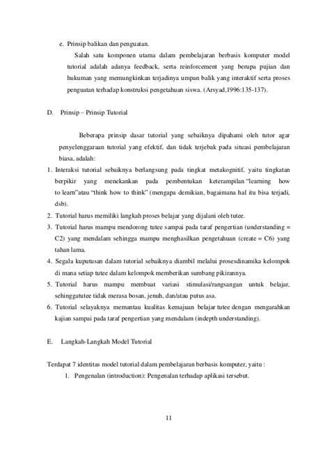pembelajaran tutorial adalah modul pembelajaran tutorial