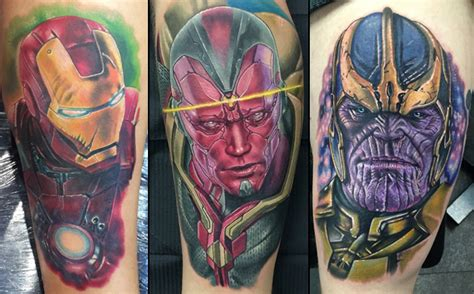 thanos tattoo awesome fan tattoos zipperfish