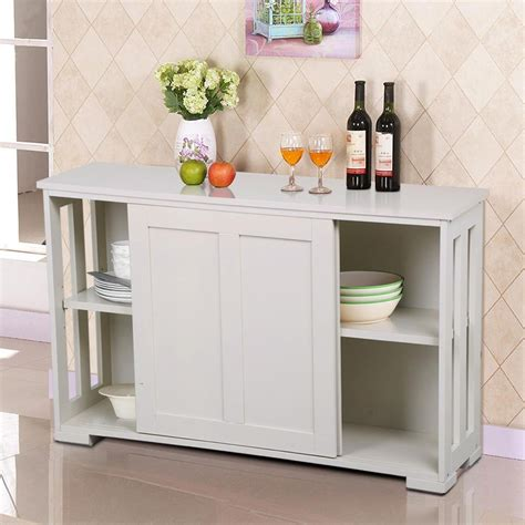 go2buy antique white stackable sideboard buffet storage