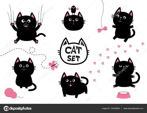 Black Cat Set black cat set stock vector 169 worldofvector 142438295