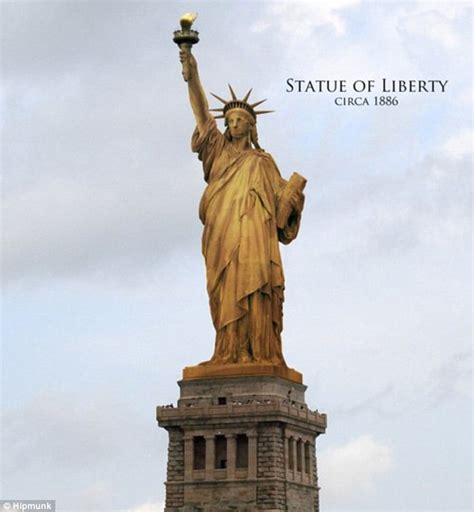 original color of the statue of liberty the copper statue of liberty as it appeared in new