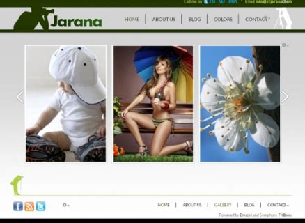 theme drupal slideshow photography drupal themes for gallery images symphonythemes