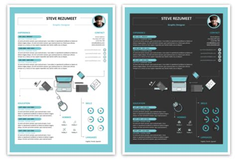 layout cv kreatif 33 template resume cv word dan powerpoint yang modern