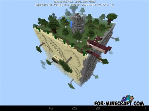 survival maps for minecraft pe square planet survival map for minecraft pe 1 0 0 17 0