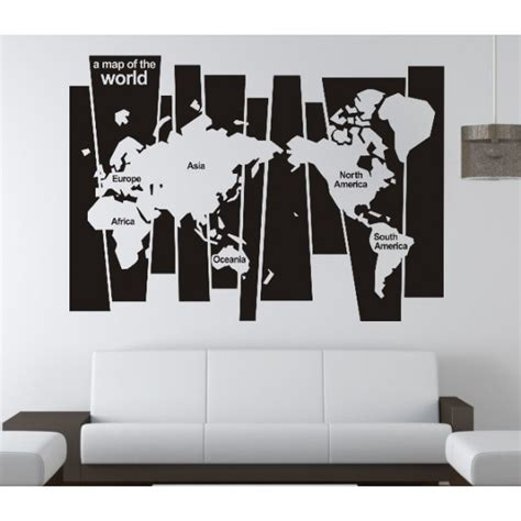 office wall decorations 0829 version map of the world family office vinyl wall art