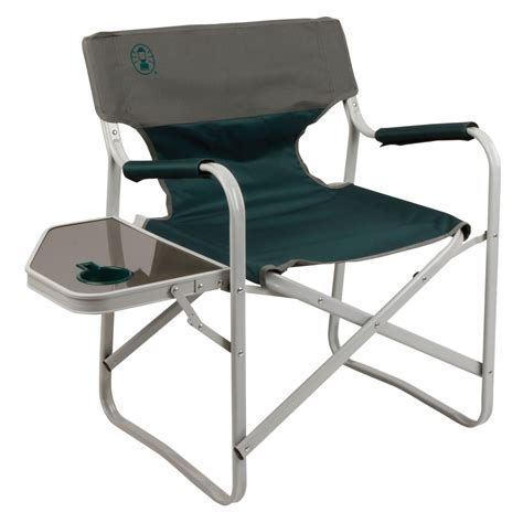 Lawn Chair With Table Coleman Outpost Elite Deck Chair With Side Table Les Green