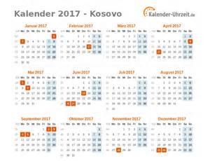Kosovo Kalendar 2018 Feiertage 2017 Kosovo Kalender 220 Bersicht