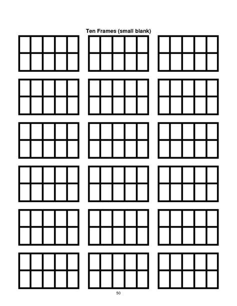 five frame ten frame template printable document sle classroom