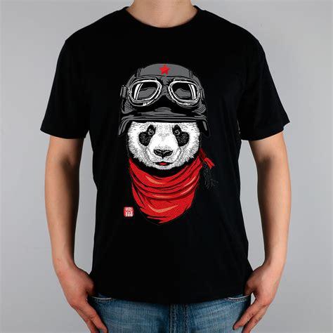 Panda Tshirt happy adventurer panda t shirt top cotton t shirt new design high quality in t shirts