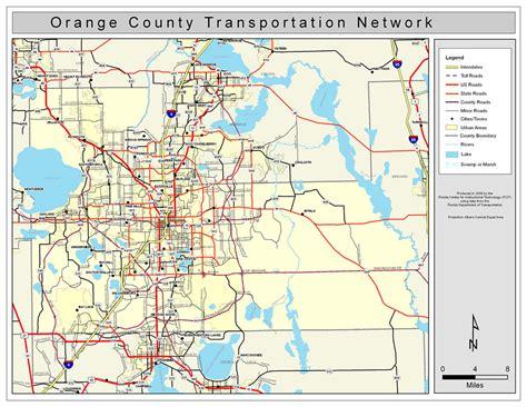 Orange County Florida Search Orange County Road Network Color 2009