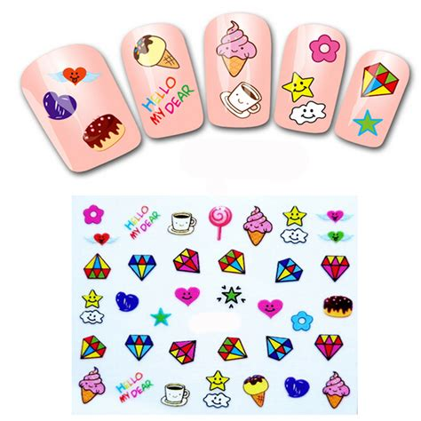 Sticker Water Decal Ble2335 1pcs nail water transfers stickers for nails decals stickers manicure water decals cake