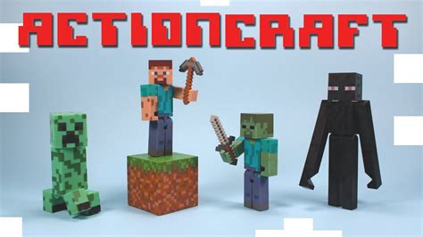 Figure Minecraft Seri 1 minecraft figure toys series 1 steve enderman