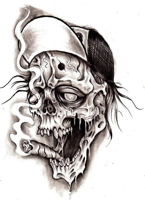 skull and smoke sleeve tattoo designs black tribal skull design