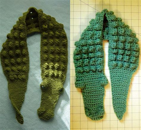 bright and shiny lovely and crochet gator scarf