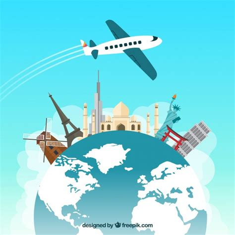 viajes por el mundo 3 lugares para viajar viajar por el mundo descargar vectores gratis