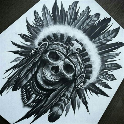 native american headdress tattoo cool american scull school