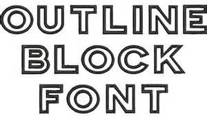 White Letters With Black Outline Font by Outline Block Font Oregonpatchworks