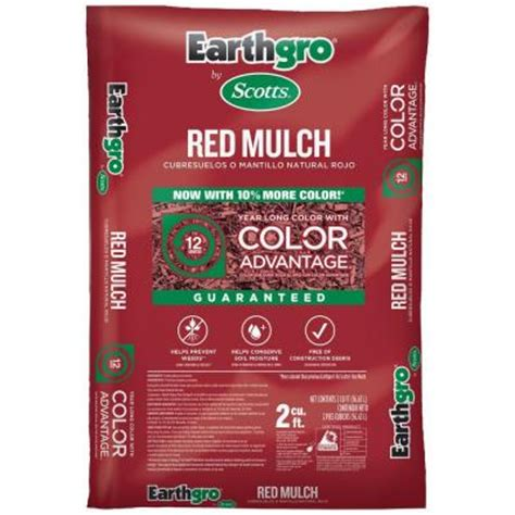 home depot scotts earthgro 2 cu ft mulch 3 33 per bag