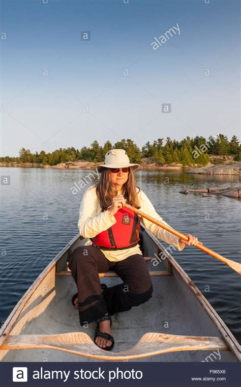 canoes in french people canoe french river stock photos people canoe