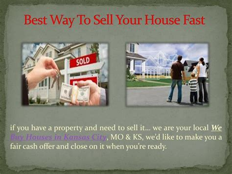 best way to sell your house ppt how to sell your property quickly powerpoint