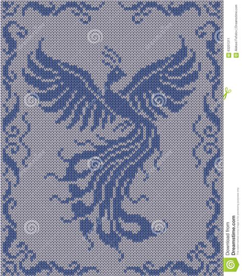 magic pattern background seamless knitted background magic bird stock photo