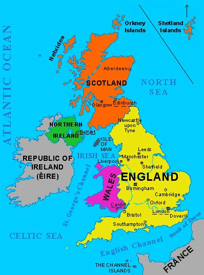 map of the united kingdom the aberdeen geography lesson