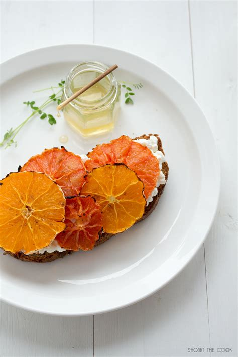 grapefruit before bed grapefruit before bed ricotta toast with roasted orange and grapefruit shoot kai greene after
