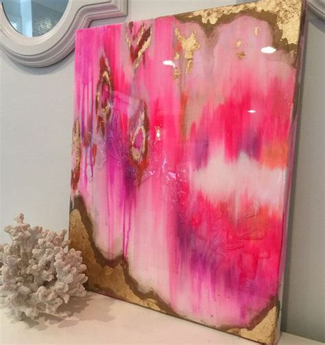 painting with glitter sold original acrylic abstract painting ikat canvas
