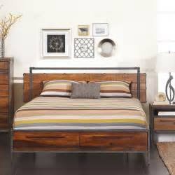 Metal And Wood Bedroom Sets Insigna Bed Modern Beds Other Metro By