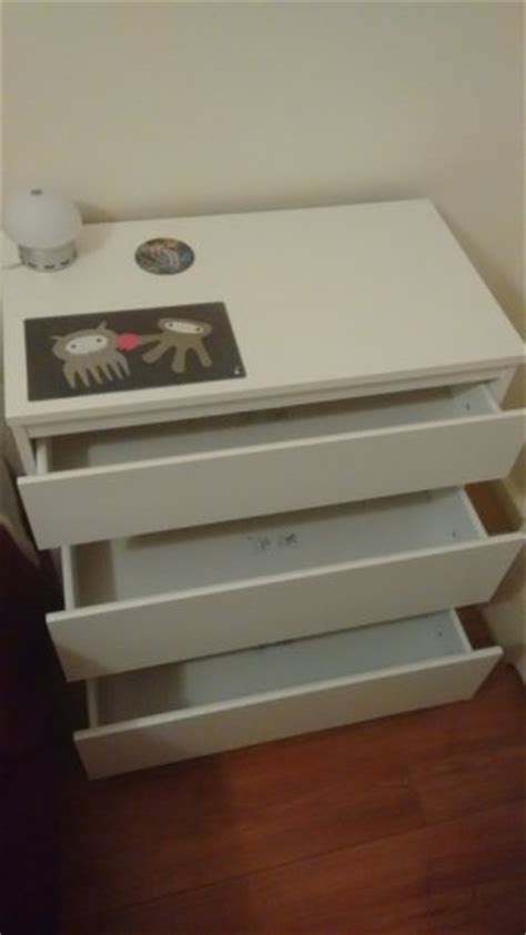 Ikea 3 Drawer Bedside Table Chest Of 3 Drawers Also Usable As Bedside Table Kullen White Ikea For Sale In Castleknock