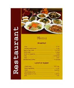 restaurant menu design templates 30 restaurant menu templates designs template lab