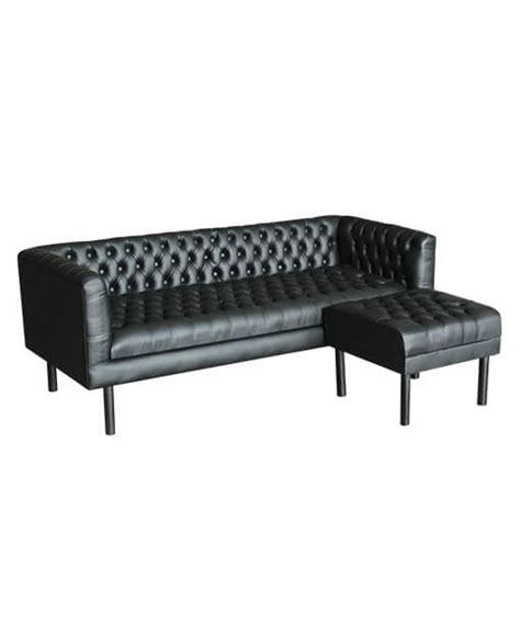 synthetic leather sofa singapore kagen teak synthetic leather sofa with ottoman set black