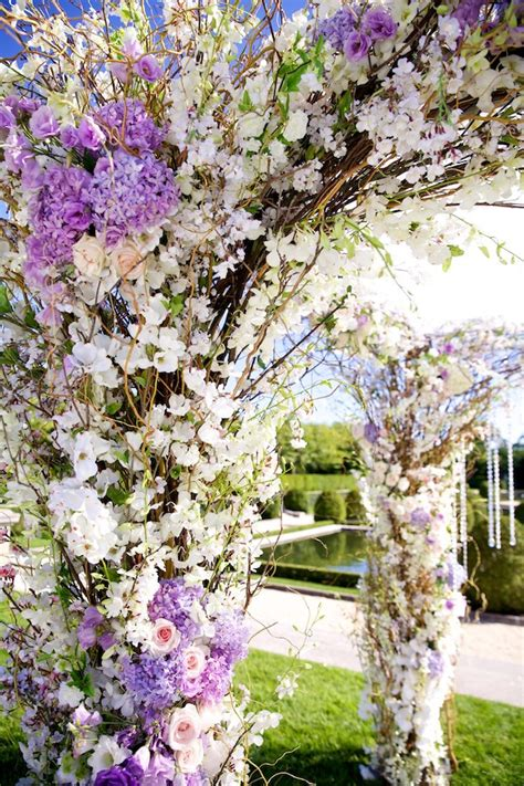 Wedding Arch Purple by Purple And White Wedding Arch By Tantawan Bloom Aisles
