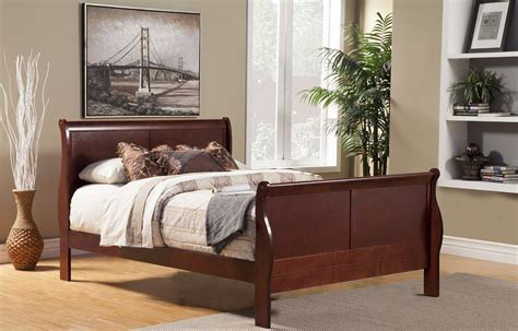 cherry sleigh bed queen louis philippe ii cherry queen sleigh bed 2700q alpine