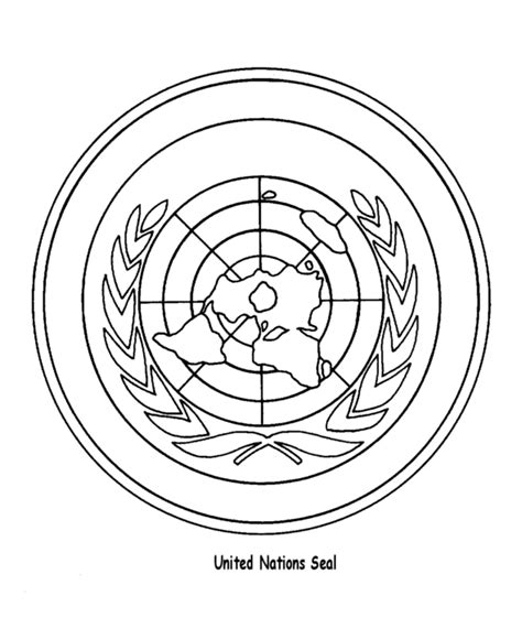 United Nations Day Coloring Pages United Nations Seal Nations Coloring Pages