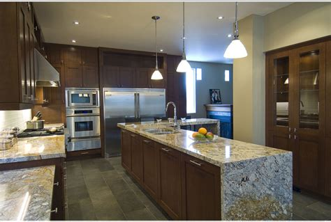 Kitchen Island With Granite by Kitchen Trends Waterfall Edge Counter Tops Callier And