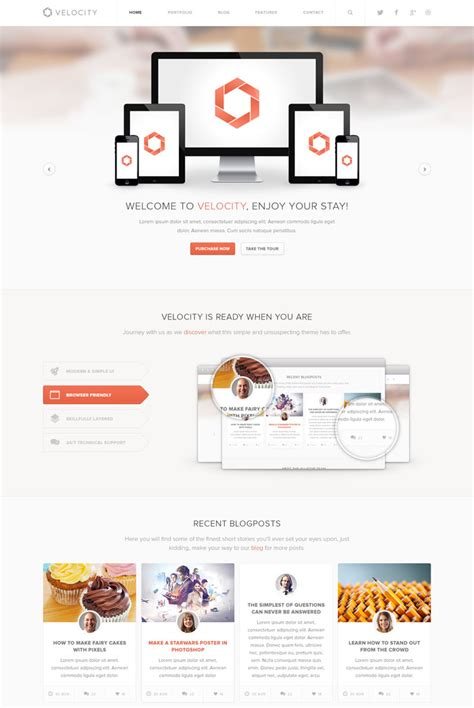 velocity templates 20 attractive and creative psd templates