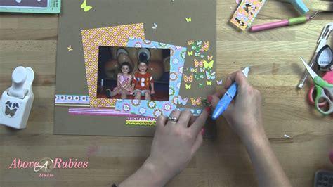 youtube tutorial video ideas butterfly punch scrapbook ideas tutorial youtube