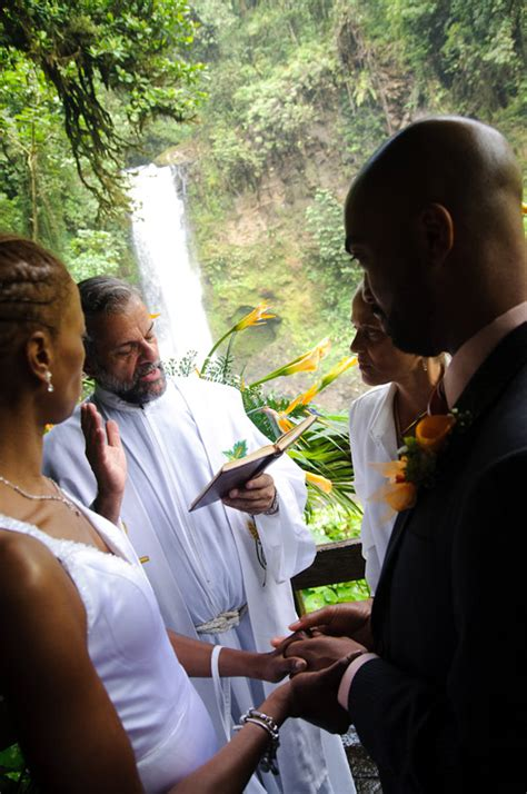Wedding Blessing Priest by Real Wedding Roquell Stephen La Paz Waterfall