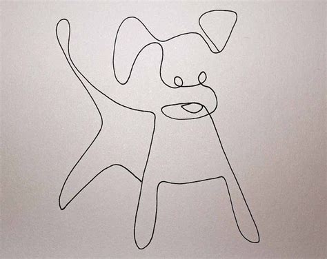line dogs one line drawing by elin folkesson via flickr inspiration for wire wire