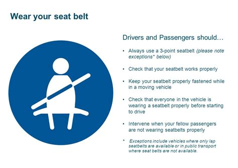 Note To Montana Seat Belts Are Necessary Not An Accessory by Employee And Contractor Induction Ppt