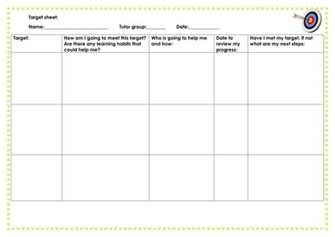 Target Card Template Ks2 by Target Mentoring Sheets Ks2 Ks3 By Shernern1 Teaching
