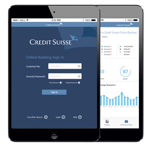 credit suisse one bank credit suisse banking app