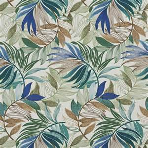 aqua brown and beige tropical oasis leaf themed