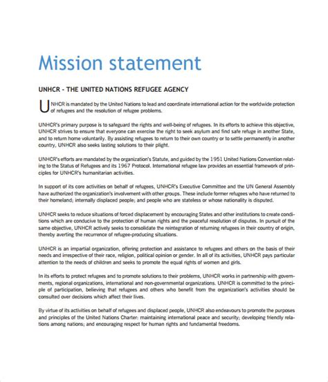 mission statement for non profit template statement templates 14 free word pdf documents
